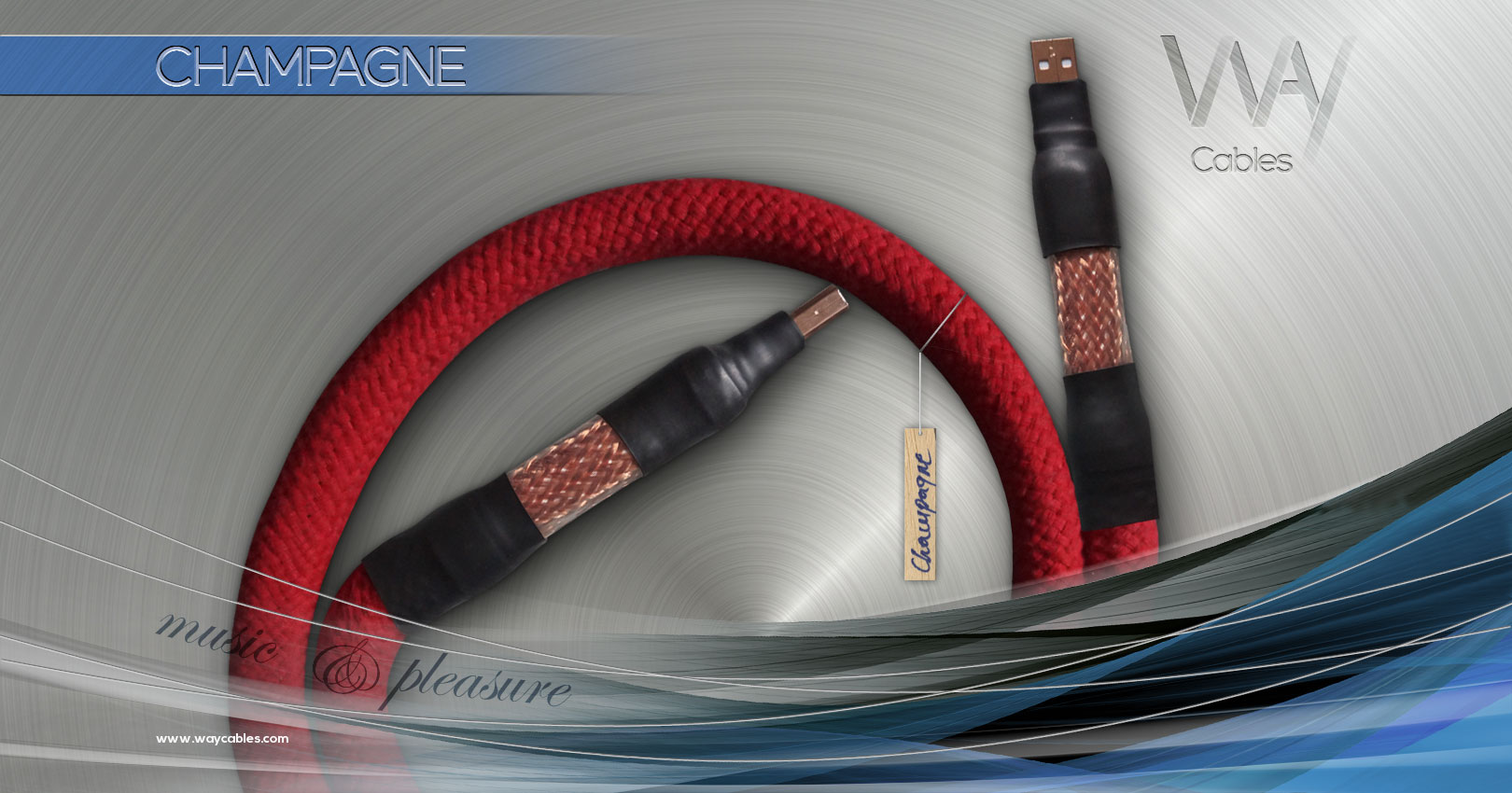 WAY Cables - CHAMPAGNE - USB Audio cable