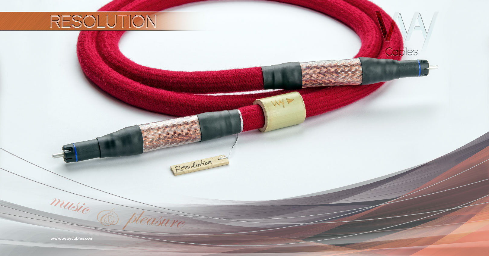 WAY Cables - RESOLUTION - digital RCA / SPDIF audio cable